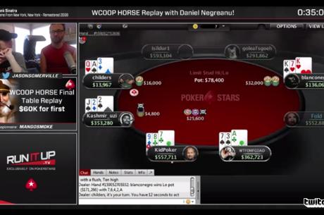 Twitch Replay: Daniel Negreanu с анализ от финалната маса на WCOOP турнира, който спечели