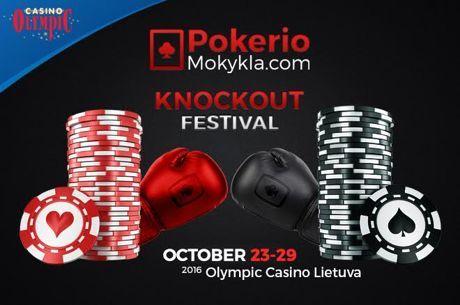 """Pirmasis """"PokerioMokykla.com Knockout Festival"""" serijos turnyras buvo sausakimšas"""