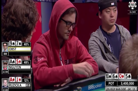 James Obst Larga um Flush no Main Event WSOP 2016; Doug Polk Analisa