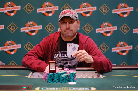 Chad Galye is the Harvest Poker Classic Bounty King