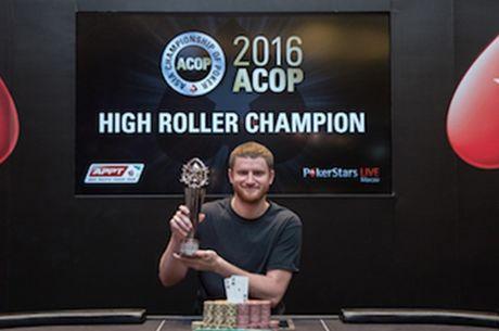 """ACOP """"High Roller"""" laimėjo Davidas Petersas, šalia prizų buvo ir Laurynas Levinskas"""