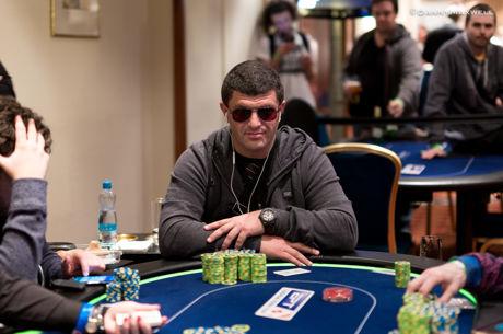 European Poker Tour Praag - Leon Tsoukernik chipleader bij laatste zes €50k Super High Roller