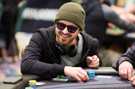 Breaking Good: Aaron Paul Makes Day 2 of PokerStars Championship Bahamas