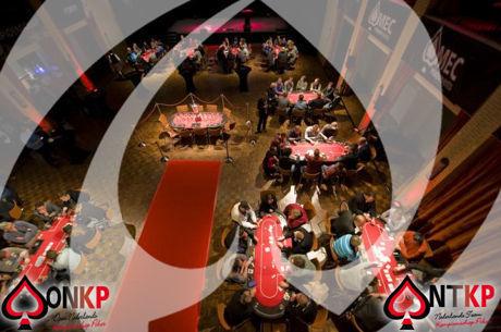 Pokerspelers bereiden zich voor op de Kick-Off van het ONK Poker in Ermelo