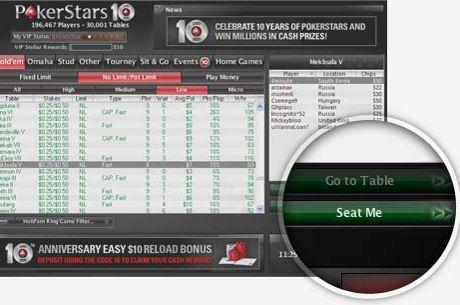 "Adio vanatorii de ""pesti""! PokerStars lanseaza optiunea automata ""Seat Me"""