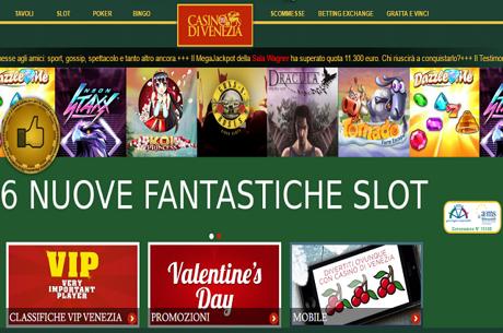 Sei Nuove Slot Ai Vertici Delle Classifiche Per Il Casino Di Venezia On Line