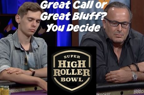 Grande Call ou Grade Bluff? Daniel Negreanu Analisa Mão do Super High Roller Bowl