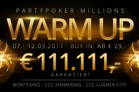 partypoker Millions Warm Up ab heute in Wien