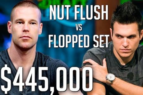 Polk vs Antonius em Pote de $445,000, Set vs Flush!