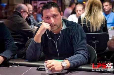 Fausto Silva e João Gonçalves no Dia 2 do Megastack Laroush Poker Series Madrid