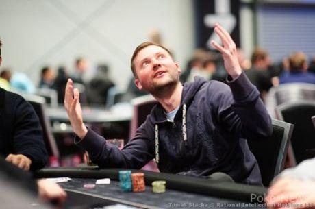 PokerStars Festival Rozvadov Main Event, Tag 1b: Michal Mrakas führt