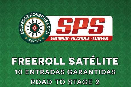 Road To Stage 2: Freeroll Satélite com 10 Entradas Garantidas de 20 a 24 Março no Casino...