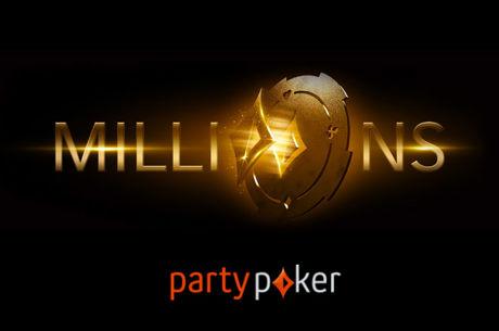 Partypoker MILLIONS - £1 млн победителю гарантирован
