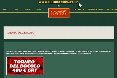 """Il 25 Aprile Ecco il """"Torneo Del Bocolo"""" Su www.clickandplay.it"""