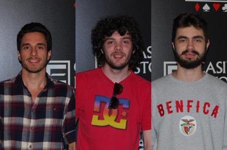 Bruno Pinto, André Emereciano e João Palminha decidem hoje quem é o Campeão do Big Stack do...