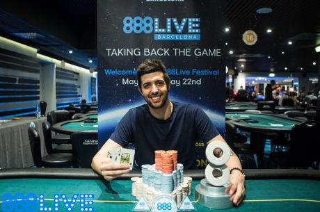 Deal w 9 osób w turnieju otwarcia 888Live Barcelona