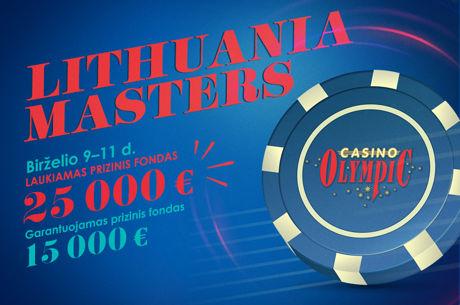 """Šiandien startuoja """"Lithuania Masters"""" turnyras"""
