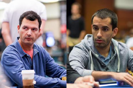Pedro Cabeça e João Vieira no Dia 2 do Evento #63: $1,000 No-Limit Hold'em