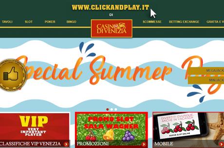 ClickAndPlay, dal 17 al 23 Luglio Super Bonus Nella Sala Slot Wagner
