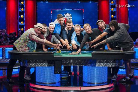 2017 WSOP Main Event - Blumstein en Hesp leiden finaletafel met Pollak, Saout & Lamb