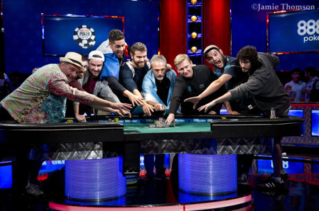 Mesa Final do Main Event das WSOP Formada