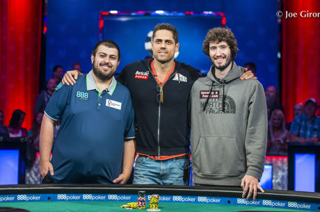 Scott Blumstein, Benjamin Pollak e Dan Ott, só Um vai Vencer o Main Event da WSOP