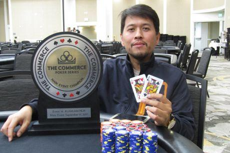 Global Casino Champion Sean Yu Adds Commerce Poker Title