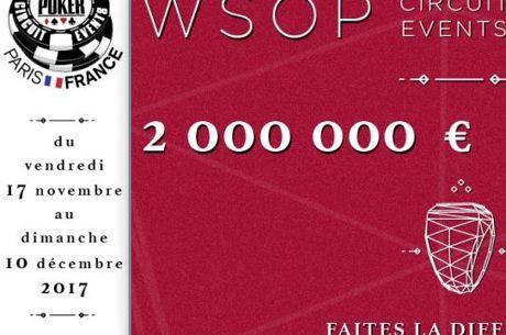 WSOPC Paris : Le programme complet