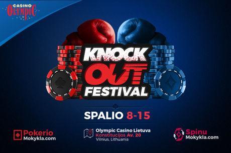 """""""Knockout"""" pokerio festivalis Vilniuje Spalio 8-15 dienomis"""