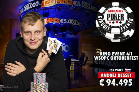 WSOP Circuit Underway at King's Casino; Andrej Desset Wins First Ring