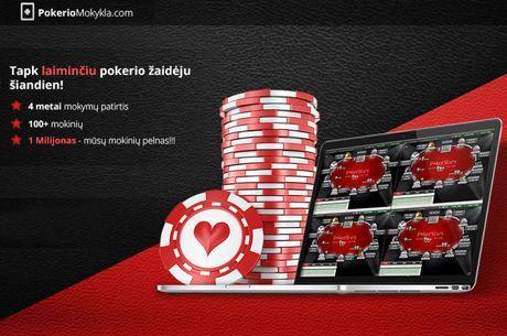 Informacija apie PokerioMokykla.com nemokamų pokerio turnyrų lygą