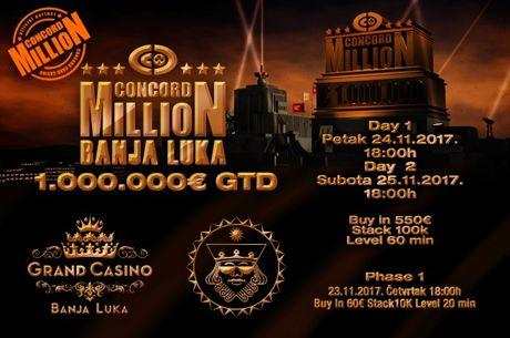 Concord Million 24 - 25 Novembra u Grand Casinu Banja Luka