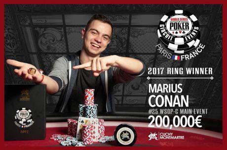 Main Event WSOPC Paris : Marius Conan s'impose devant Pierre Merlin (200.000€)