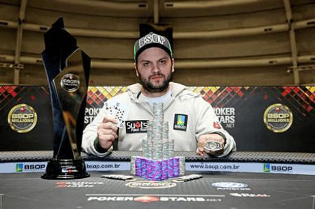 Saulo Sabioni Conquista Main Event do BSOP Millions (R$ 1,067,150)