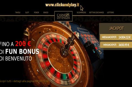 Clickandplay.It, il Gioco Online Del Casinò Di Venezia Rinnova Il Sito Con Tanti Nuovi Giochi