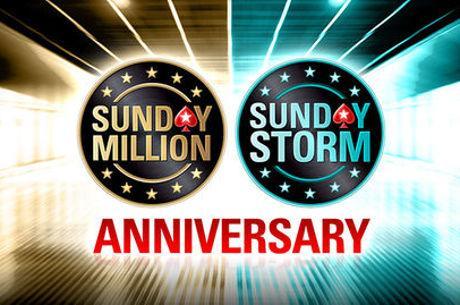 $11 Milhões Garantidos no Aniversário do Sunday Million e Sunday Storm