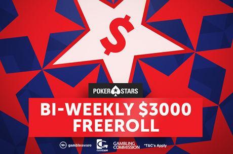 Introducing the PokerStars $3,000 Bi-Weekly Freerolls