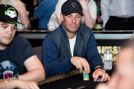 Shane Warne Enjoying the Aussie Millions at the Crown