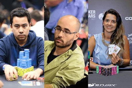 Renato Nomura, Lui Martins e Dayane Kotoviezy na Equipe do partypoker