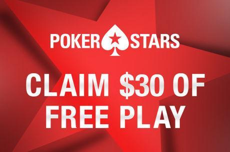 Καταθέστε $20 και πάρτε $30 δωρεάν για παιχνίδι στην PokerStars