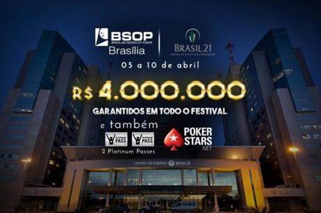 BSOP Brasília com R$ 4 Milhões de Premiação Garantida