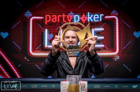 Viktor Blom gewinnt das partypoker LIVE MILLIONS Germany Main Event