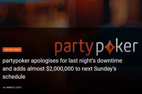 Partypoker se poskuša odkupiti za tehnične težave z 2-milijonskim opravičilom