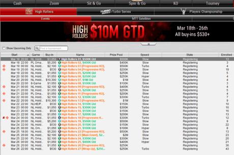 Editia a doua a High Roller Series incepe pe 18 martie pe PokerStars
