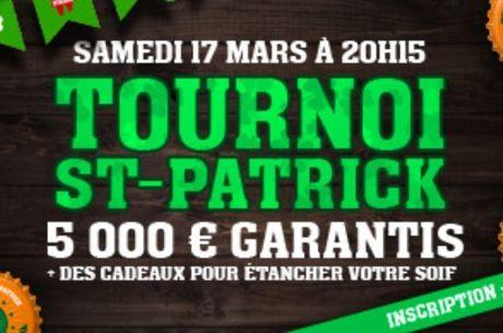 Winamax : 5000€ garantis pour la Saint-Patrick