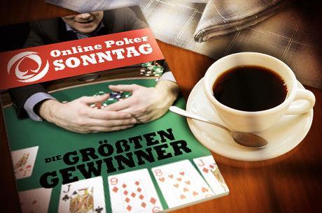 Online Poker Sonntag: OLD TIME GIN reitet auf riesiger Welle