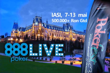 Astazi, start in 888LIVE Iasi: 12 evenimente, peste 500.000 Ron Gtd