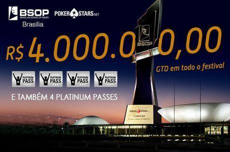 BSOP Brasília Começa Amanhã e tem R$ 4 Milhões de Premiação Garantida
