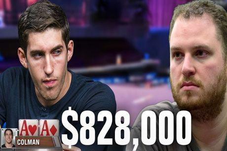 Análise de Mão: Ases de Dan Colman contra Noves de Scott Seiver