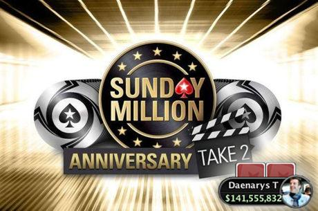 """Daenarys T"" Wins Sunday Million Anniversary Take 2 for $1MM"
